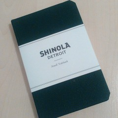 A little dark green notebook